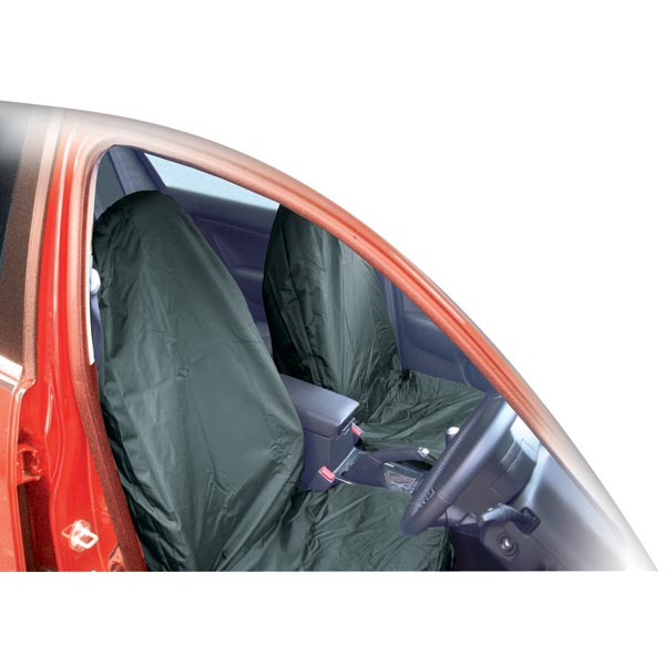 Streetwize Pair Universal Nylon Seat Covers - Navy