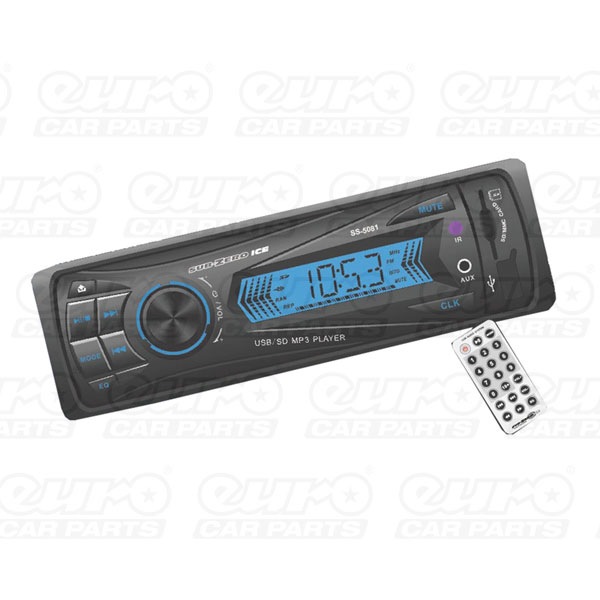 Sub Zero ICE Head Unit USB/SD/MMC MP3 Tuner with pre-sets
