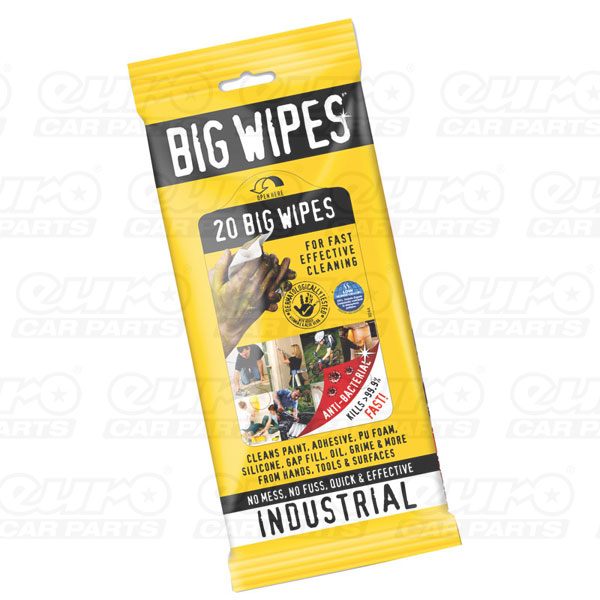 Industrial 20s - Anti Bacterial, 20 wipes sachets