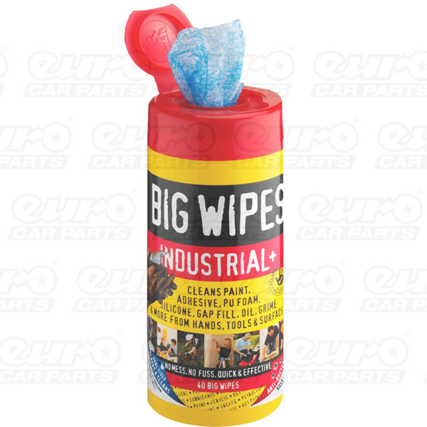 Industrial+ 40s - Anti Bacterial plus Dual Sided Fabric, 40 wipes tubs