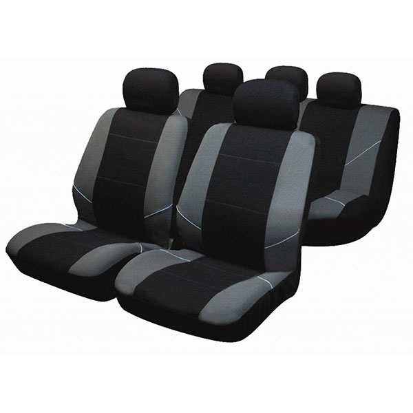 Sakura Neo Seat Covers Black with grey pattern, inc Head Rest