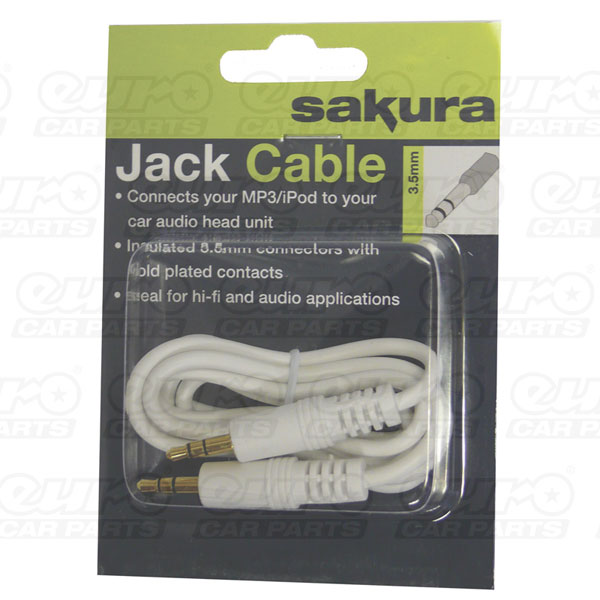 Sakura 3.5mm Jack Extension Lead