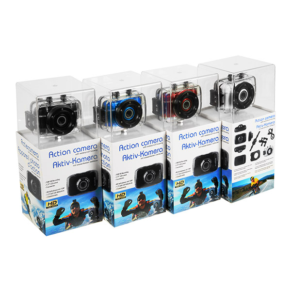 Action Camera Complete With Waterproof Housing