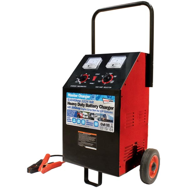 Streetwize Automatic Heavy Duty Battery Charger On Wheels