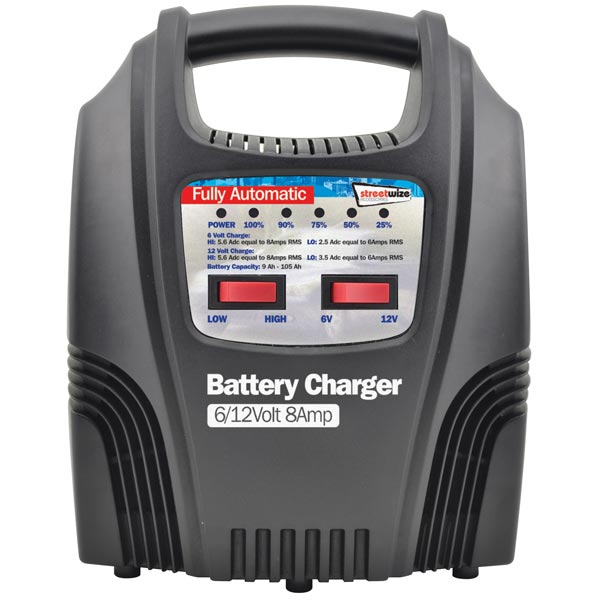 Streetwize 8 Amp Fully Automatic Battery Charger (6/12v )