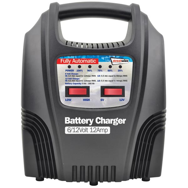 Streetwize 12 Amp Fully Automatic Battery Charger (6/12v )