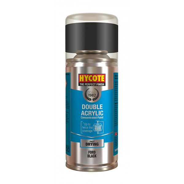 Hycote Ford Black Spray Paint - 150ml