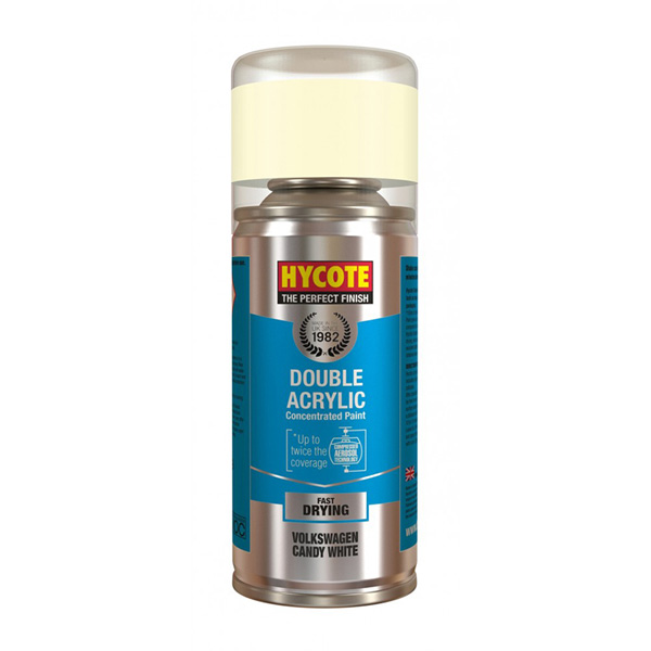 Hycote Volkswagen Candy White Spray Paint - 150ml