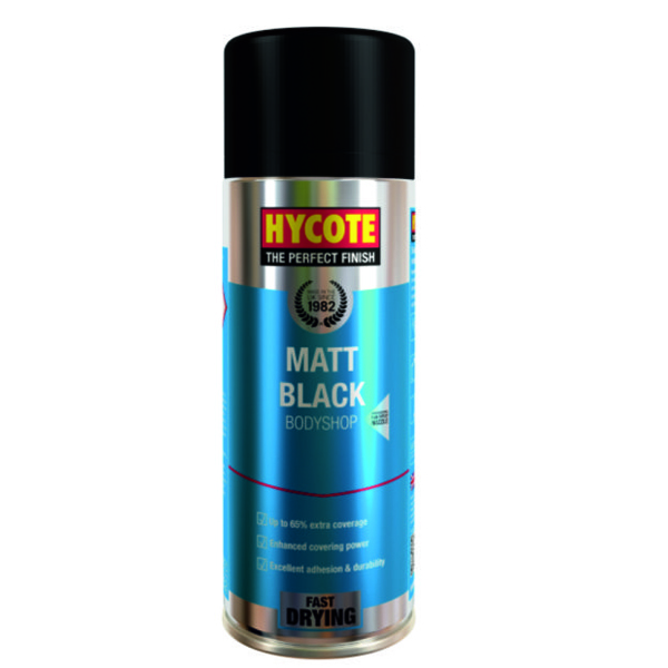 Hycote Matt Black Body Shop 400ml