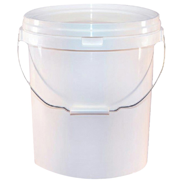 Trade Quality 20 Litre White Valeters Pail With Lid