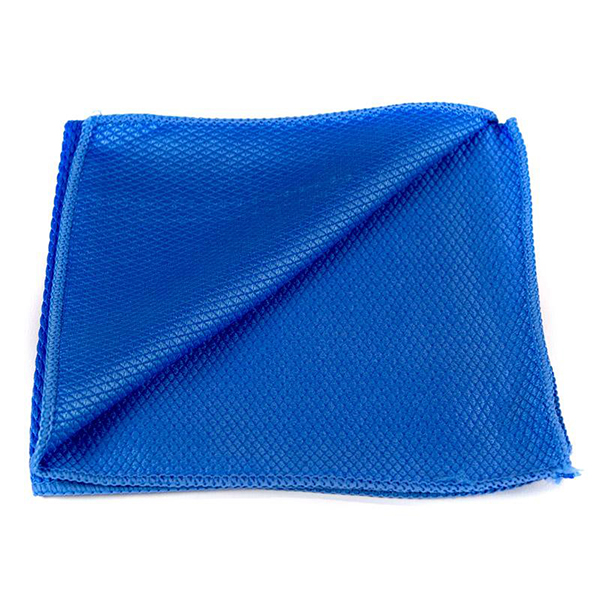 EZ Car Care Blue FishScale Window & Glass Cloth 16x16""