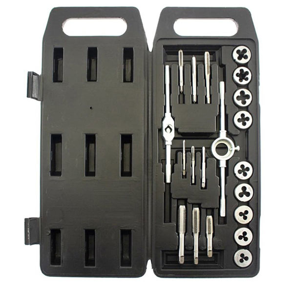 Am-Tech Tap And Die Set In Blow Case 20 Pieces