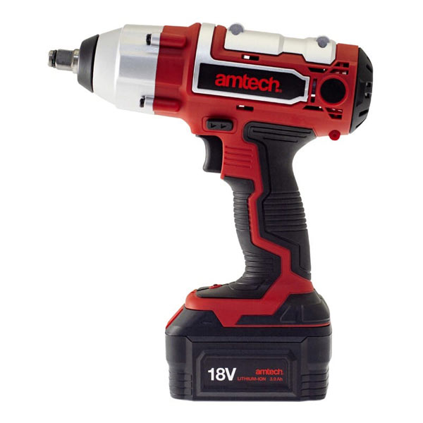 Am-Tech 18V 3Ah Li-Ion Cordless 1/2inch Impact Wrench