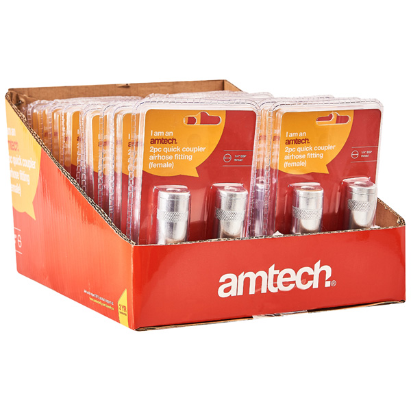 Am-Tech 2pc Quick Coupler Airhose Fitting - Female