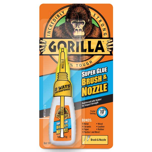 Gorilla Superglue Brush & Nozzle 12g