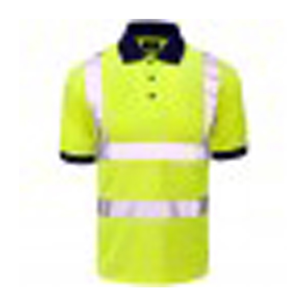 HV Polo Shirt Yellow BirdEye Std Tape - 150gsm - M