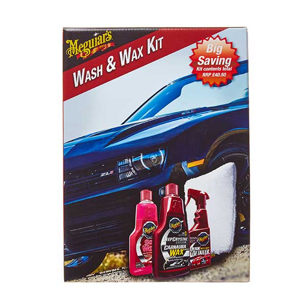 meguiars 4pc wash wax kit euro car parts. Black Bedroom Furniture Sets. Home Design Ideas