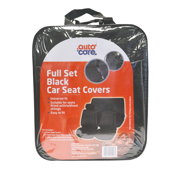AUTOCARE BLACK SEAT COVER