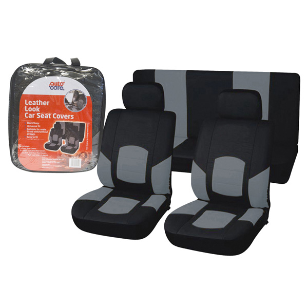 Autocare Leather Look Seat Covers Black