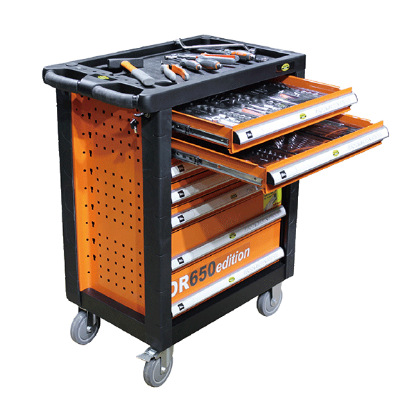 Tool Trolley OR650 Edition + 650pc Tool Kit