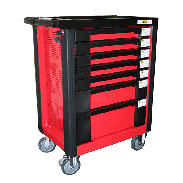 7 Drawer Tool Trolley + 542pc Professional Tool Kit