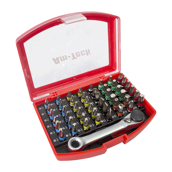 Am-Tech 49pc Colour Coded Bit Set