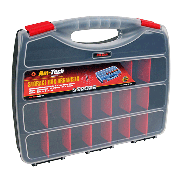 Am-Tech 380mm Plastic Storage Box & Orginiser