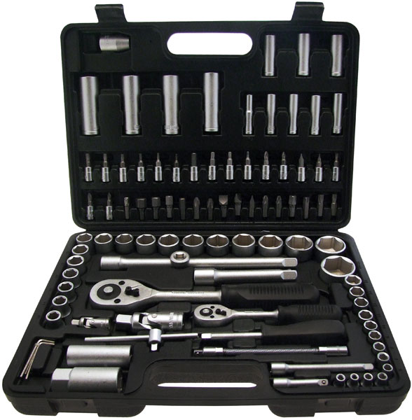 "Am-Tech 94pc 1/2"" & 1//4"" Socket Set"