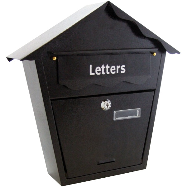 Am-Tech Lockable Postbox Black