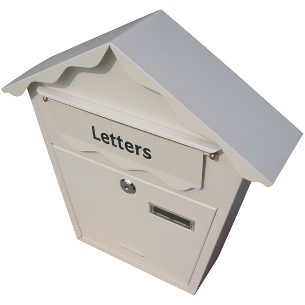 Am-Tech Lockable Postbox White