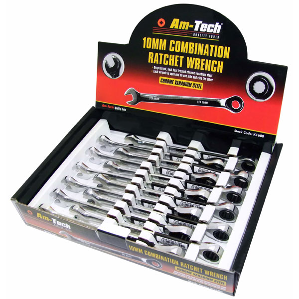 Am-Tech 10mm Combination Ratchet Spanner
