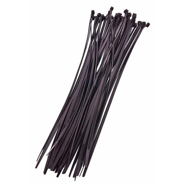Am-Tech 40pc (4.8 X 380mm) Cable Tie - Black