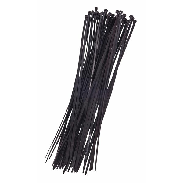 Am-Tech 40pc (3.6 X 300mm) Cable Tie - Black
