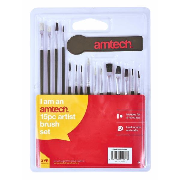 amtech 15pc Art Brush Set