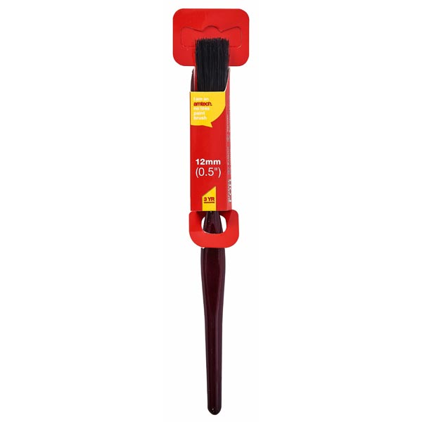 "amtech 12mm (0.5"") No Bristle Loss Paint Brush - Classic Handle"