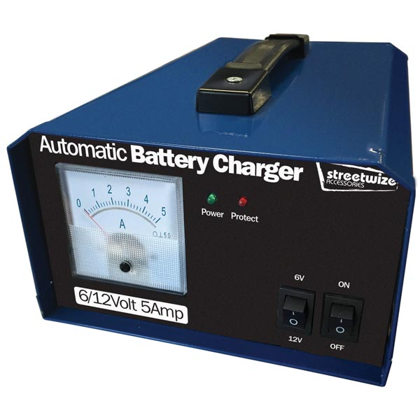 Streetwize 6/12V 5 Amp Battery Charger