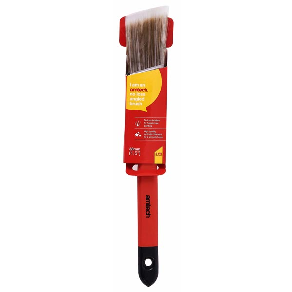 "amtech 38mm (1.5"") No Bristle Loss Angled Brush - Soft Handle"