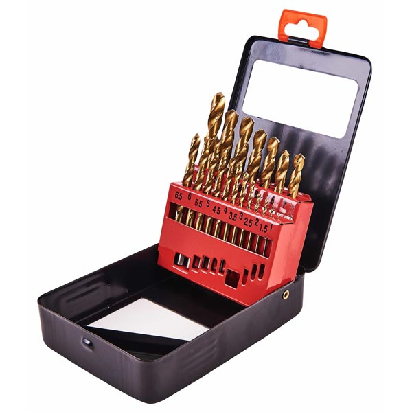 Am-Tech 19pc Titanium Coated Drill Set