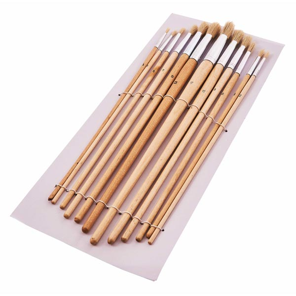 Am-Tech 12pc Round Tip Art Brush Set - Xl