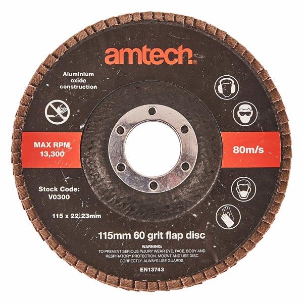 Am-Tech 115mm Flap Disc (60 Grit)