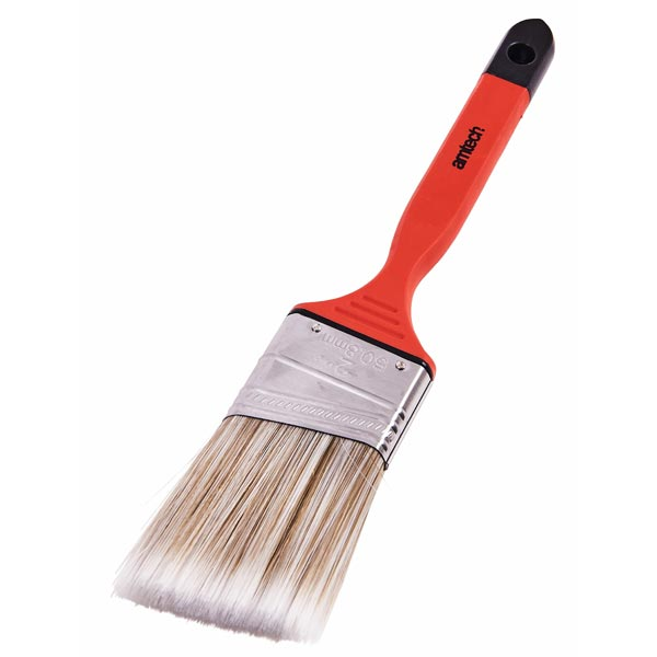 "Am-Tech 50mm (2"") No Bristle Loss Angled Brush  - Soft Handle"