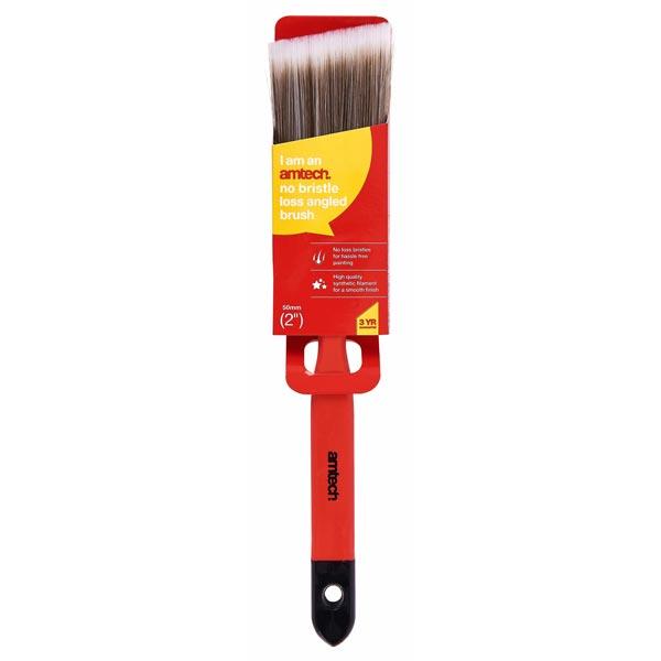 "amtech 50mm (2"") No Bristle Loss Angled Brush  - Soft Handle"