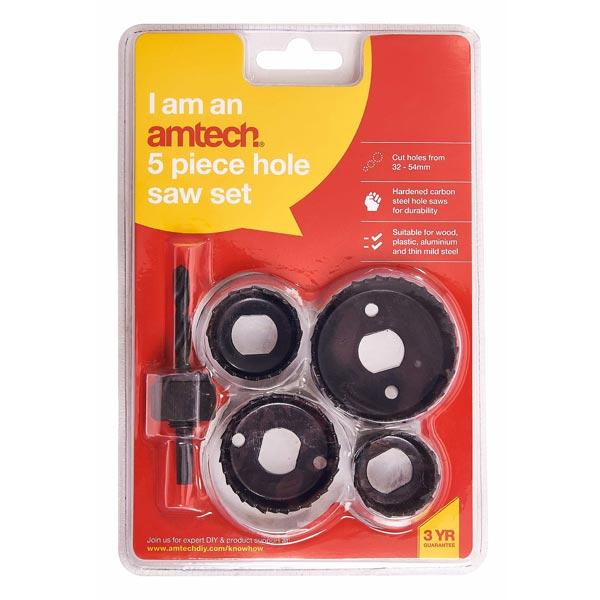Am-Tech 5pc Hole Saw Set