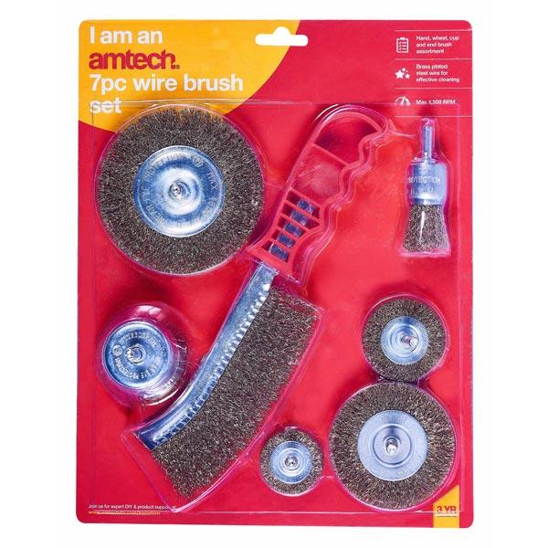 amtech 7pc Wire Brush Set