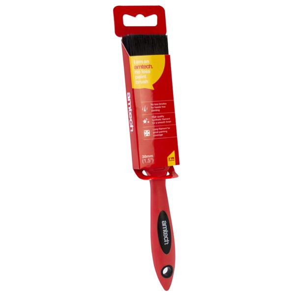 """amtech 38mm (1.5"""") No Bristle Loss Paint Brush - Soft Handle"""
