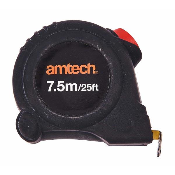 Am-Tech 7.5M X 25mm Self Locking Measuring Tape