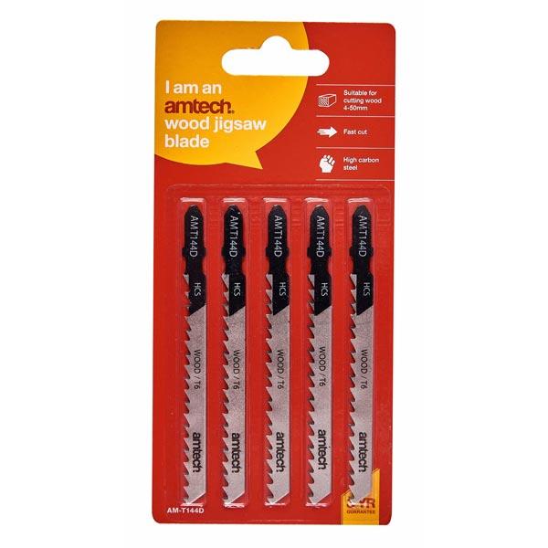 amtech 5pc Wood Jigsaw Blade Set (Amt144 D)
