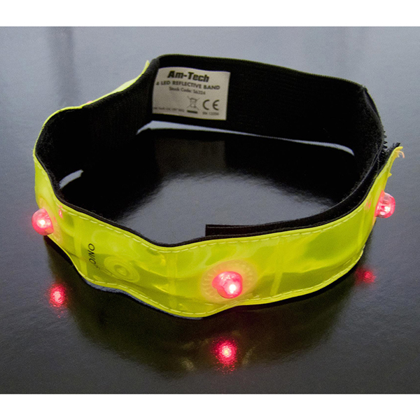 Am-Tech 2pc 4 Led Reflective Safety Bands