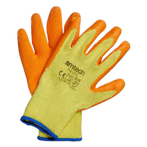 Am-Tech Latex Palm Coated Gloves XL Size 10
