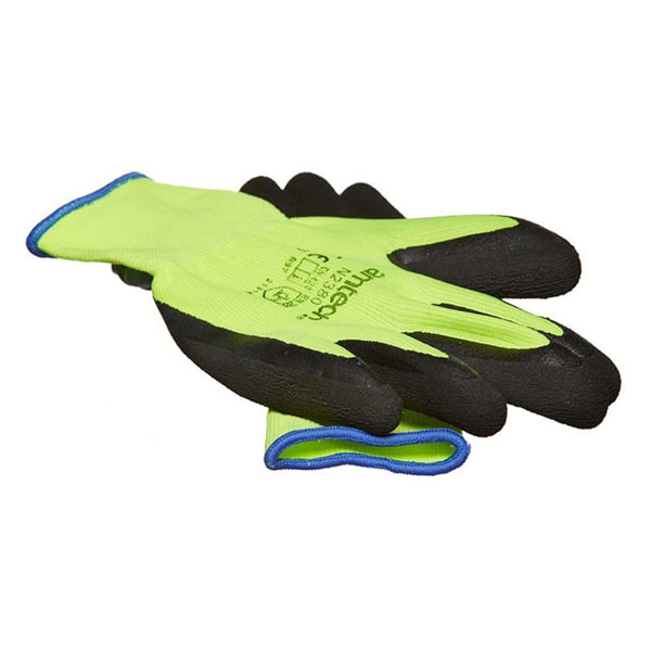 Am-Tech Hi-Vis Latex Coated Gloves XL Size 10